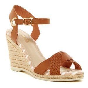 Sperry Women's Saylor Wedge Sandals size 6M Cognac